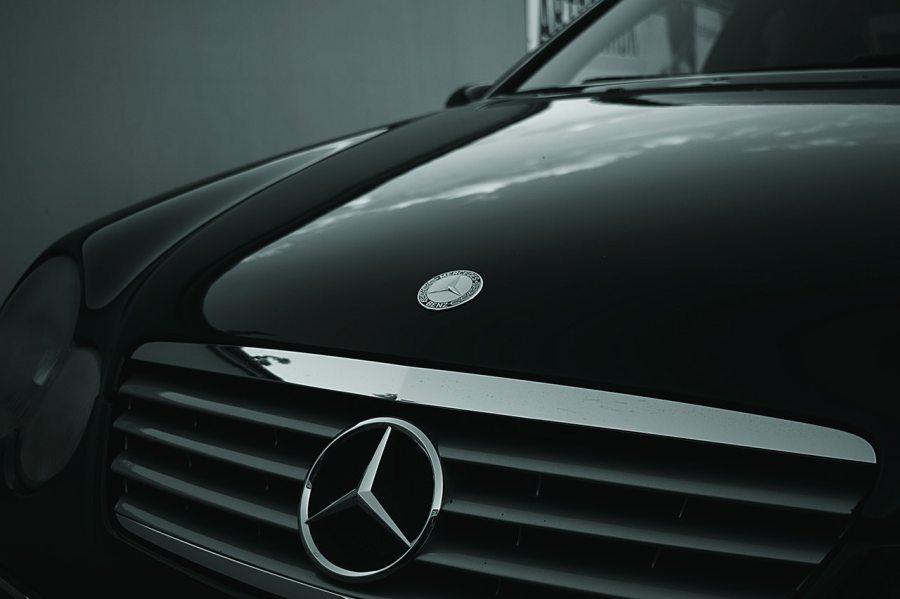 Close up of a car bonnet