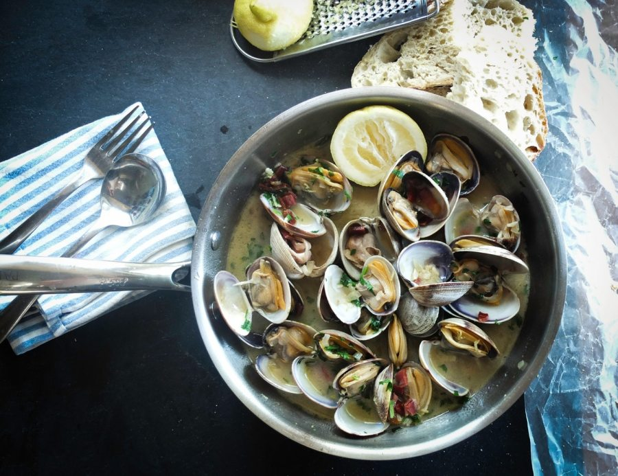 a bowl of cooked shellfish ready to eat